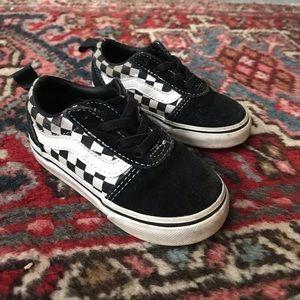 Vans toddler checker sneaker w elastic laces 6.5